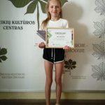 Apdovanota tarptautinio vaizdo įrašų konkurso laimėtoja